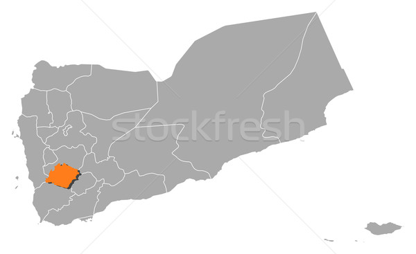 Map of Yemen, Ibb highlighted Stock photo © Schwabenblitz