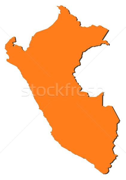Térkép Peru politikai néhány régiók absztrakt Stock fotó © Schwabenblitz