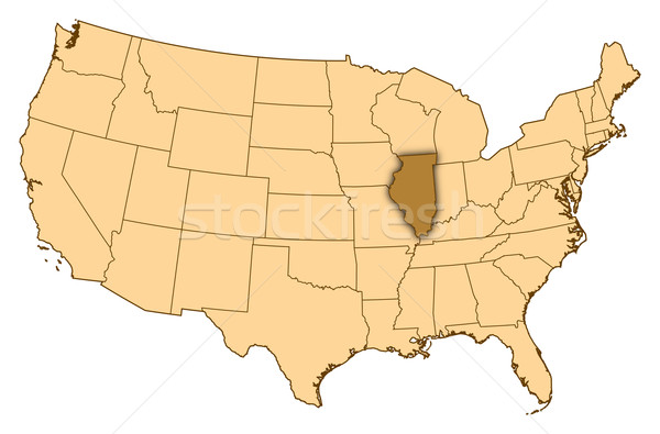 карта Соединенные Штаты Иллинойс аннотация фон связи Сток-фото © Schwabenblitz