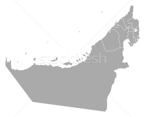 Mapa Emirados Árabes Unidos político vários abstrato fundo Foto stock © Schwabenblitz