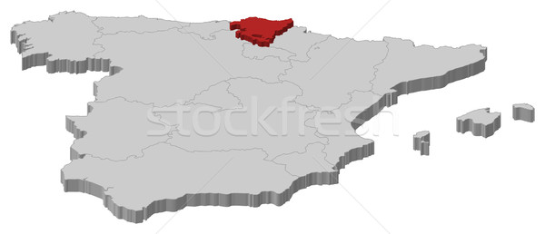 Map of Spain, Basque Country highlighted vector illustration ... Detailed Vector World Map With Selectable Countries on