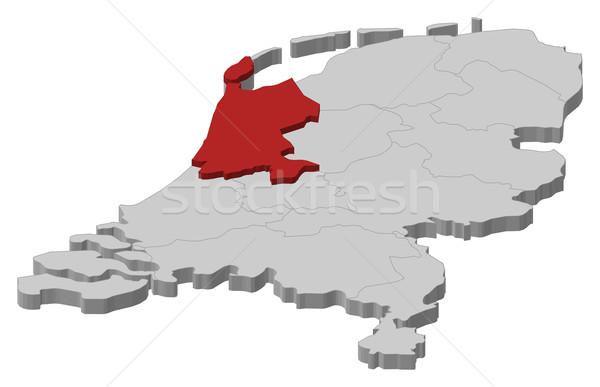 Mappa Paesi Bassi settentrionale Holland politico parecchi Foto d'archivio © Schwabenblitz