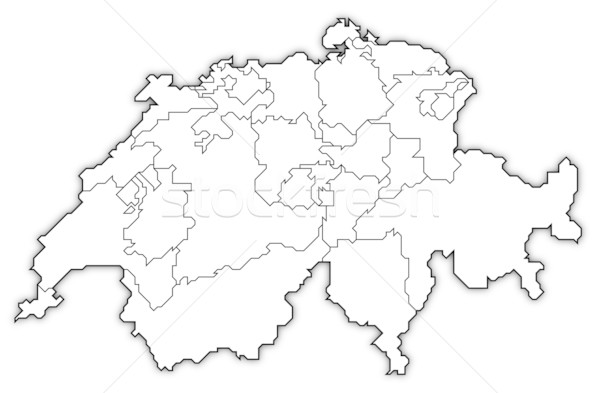 Map of Swizerland Stock photo © Schwabenblitz