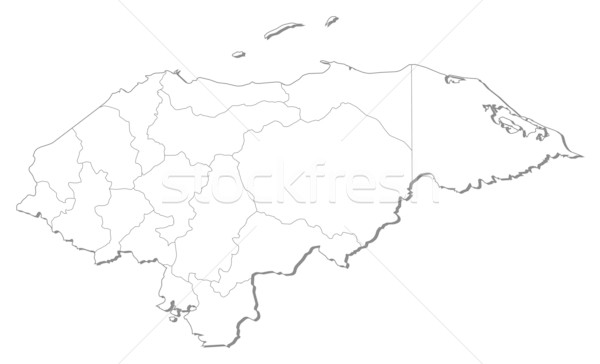 Harita Honduras siyah hat dünya soyut Stok fotoğraf © Schwabenblitz