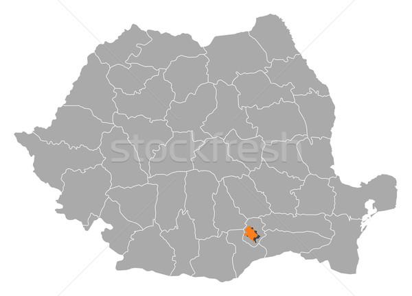 карта Румыния Бухарест политический несколько аннотация Сток-фото © Schwabenblitz