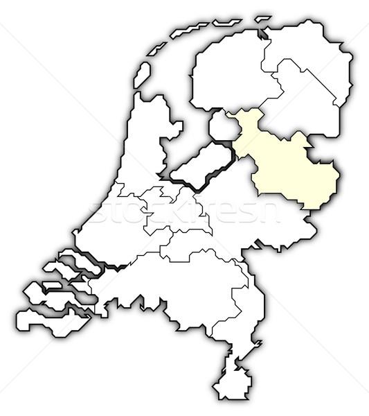 Stock fotó: Térkép · Hollandia · politikai · néhány · absztrakt · világ