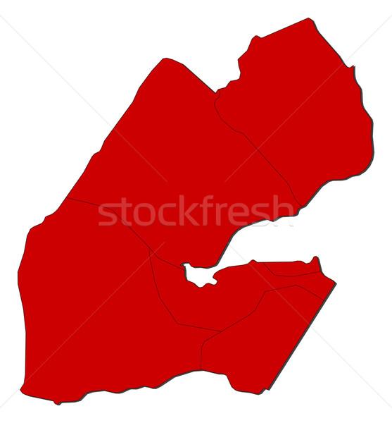 карта Джибути красный аннотация земле Сток-фото © Schwabenblitz