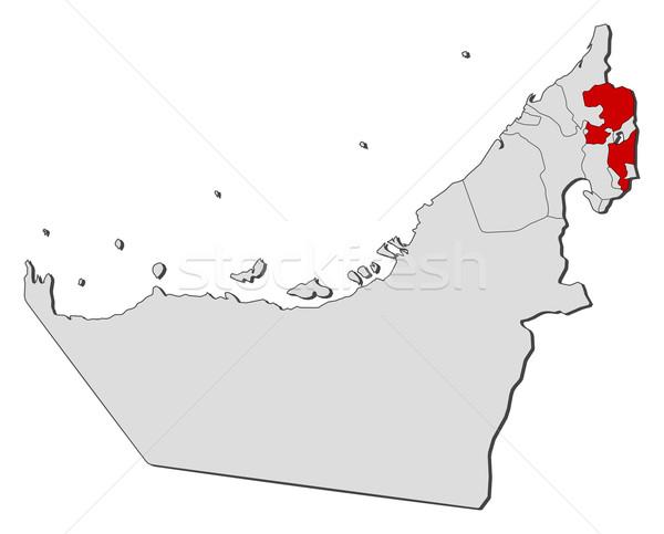 Térkép Egyesült Arab Emírségek politikai néhány absztrakt Föld Stock fotó © Schwabenblitz