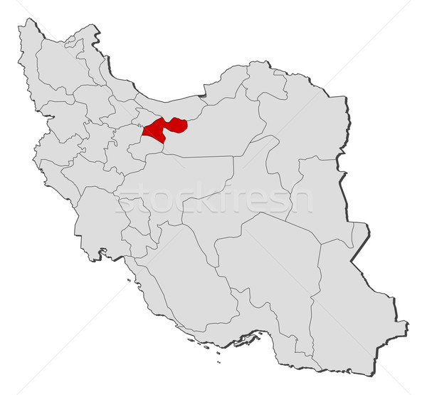Map of Iran, Tehran highlighted Stock photo © Schwabenblitz