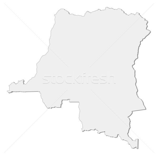 Carte démocratique république Congo plusieurs résumé Photo stock © Schwabenblitz