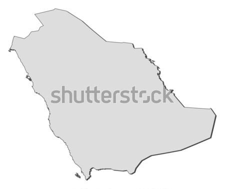 Map of Saudi Arabia Stock photo © Schwabenblitz