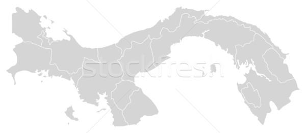 Stock fotó: Térkép · Panama · politikai · néhány · absztrakt · világ