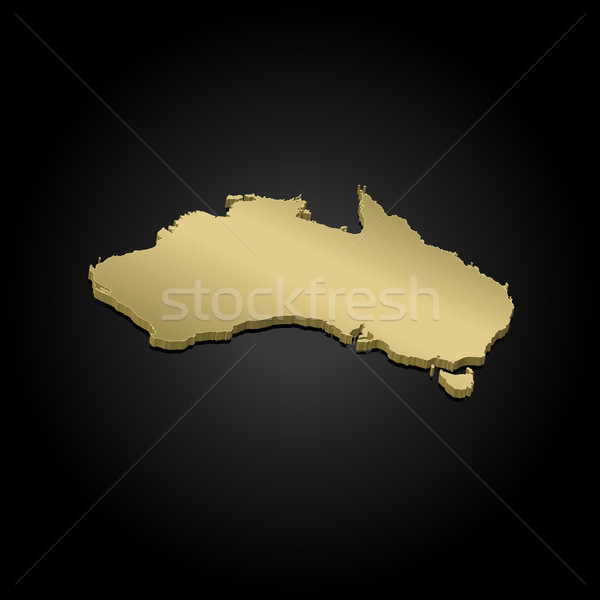 Map of Australia Stock photo © Schwabenblitz