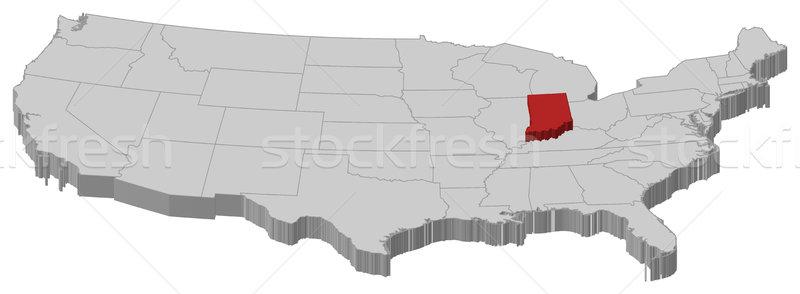 Kaart Verenigde Staten Indiana politiek verscheidene abstract Stockfoto © Schwabenblitz