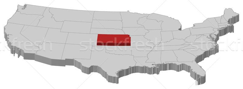 Térkép Egyesült Államok Kansas politikai néhány absztrakt Stock fotó © Schwabenblitz