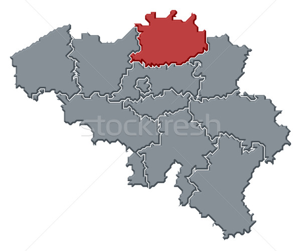 Map of Belgium, Antwerp highlighted Stock photo © Schwabenblitz