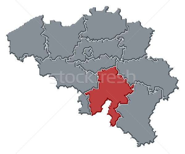 Map of Belgium, Namur highlighted Stock photo © Schwabenblitz