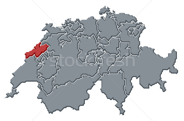 Map of Swizerland, Neuch Stock photo © Schwabenblitz