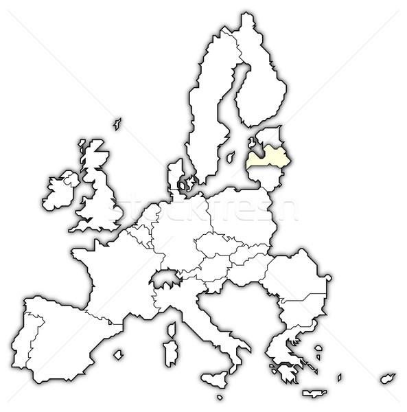 Kaart europese unie Letland politiek verscheidene Stockfoto © Schwabenblitz