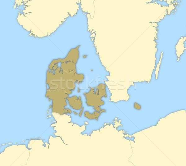 Harita siyasi birkaç bölgeler soyut toprak Stok fotoğraf © Schwabenblitz