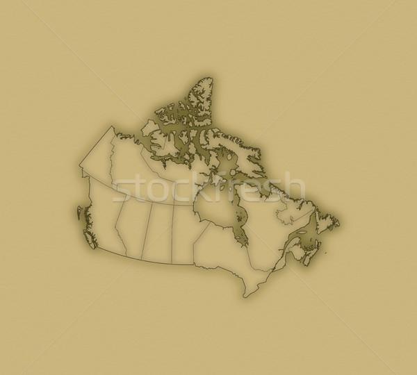 Mapa Canadá histórico papel abstrato mundo Foto stock © Schwabenblitz