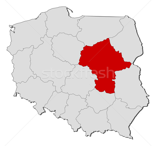 Map of Poland, Masovian highlighted Stock photo © Schwabenblitz