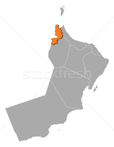 Mapa Omã político vários regiões abstrato Foto stock © Schwabenblitz