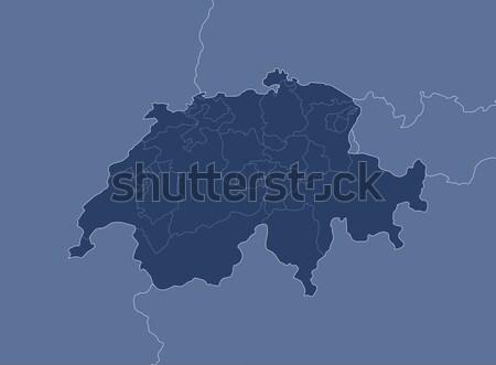 Map of Swizerland Stock photo © Schwabenblitz