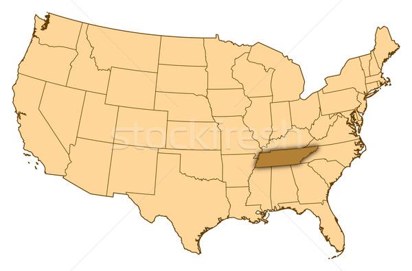Mapa Estados Unidos Tennesse resumen fondo comunicación Foto stock © Schwabenblitz
