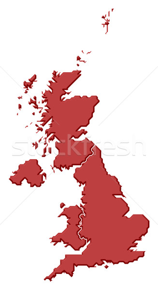 Map of United Kingdom Stock photo © Schwabenblitz