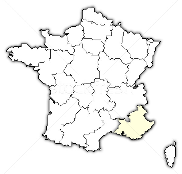 Map of France, Provence-Alpes-C Stock photo © Schwabenblitz