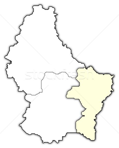 Kaart Luxemburg politiek verscheidene abstract achtergrond Stockfoto © Schwabenblitz