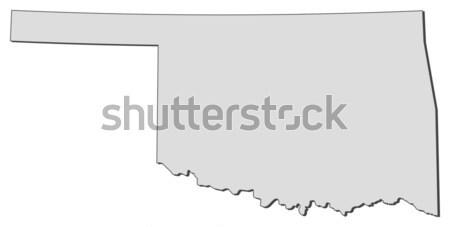 Foto stock: Mapa · Oklahoma · Estados · Unidos · abstrato · fundo · comunicação