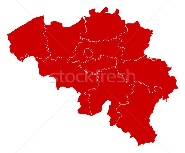 карта Бельгия черный аннотация фон красный Сток-фото © Schwabenblitz
