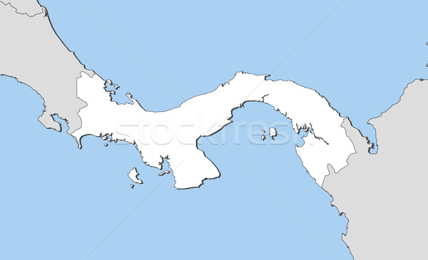 Térkép Panama politikai néhány absztrakt világ Stock fotó © Schwabenblitz