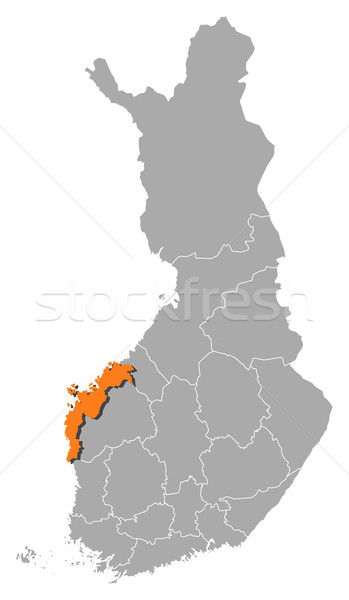 Map of Finland, Ostrobothnia highlighted Stock photo © Schwabenblitz