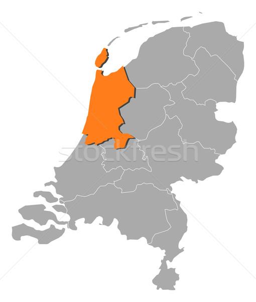 Mapa Países Bajos norte Holanda político Foto stock © Schwabenblitz