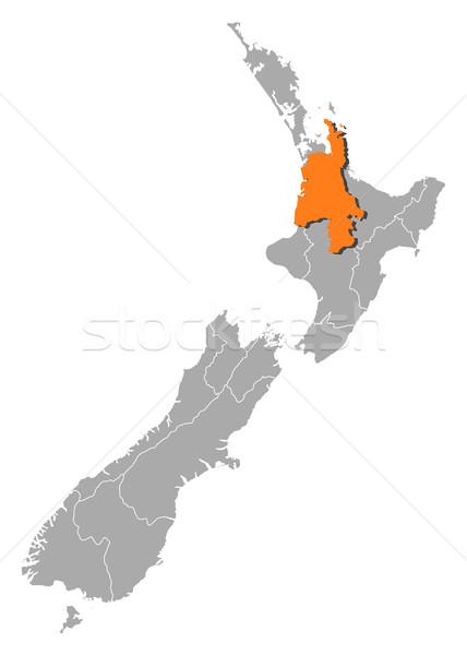 Harita Yeni Zelanda siyasi birkaç bölgeler soyut Stok fotoğraf © Schwabenblitz
