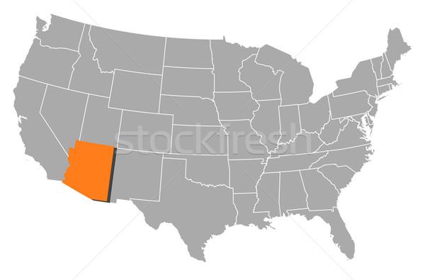 Térkép Egyesült Államok Arizona politikai néhány absztrakt Stock fotó © Schwabenblitz