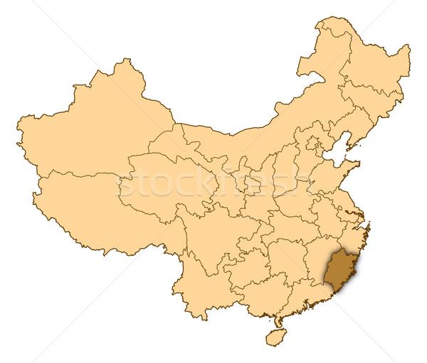 Mapa China abstrato fundo comunicação preto Foto stock © Schwabenblitz