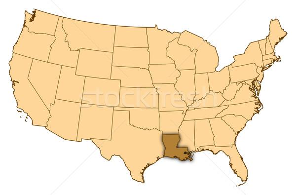 Mappa Stati Uniti Louisiana abstract sfondo comunicazione Foto d'archivio © Schwabenblitz