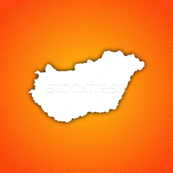 Map of Hungary Stock photo © Schwabenblitz