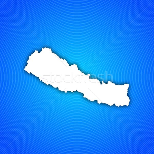 Stock fotó: Térkép · Nepál · politikai · néhány · absztrakt · világ