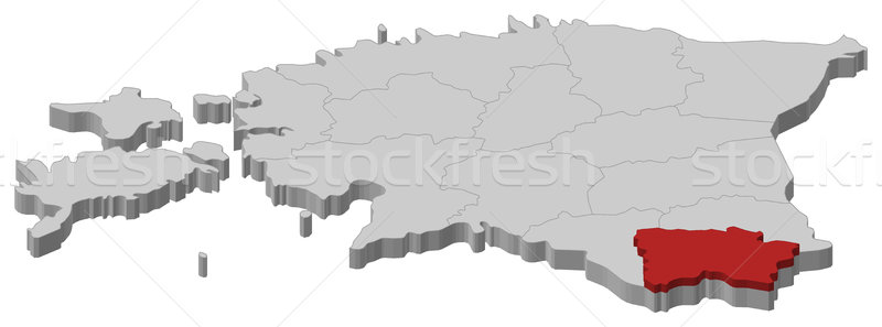Map of Estonia, V Stock photo © Schwabenblitz