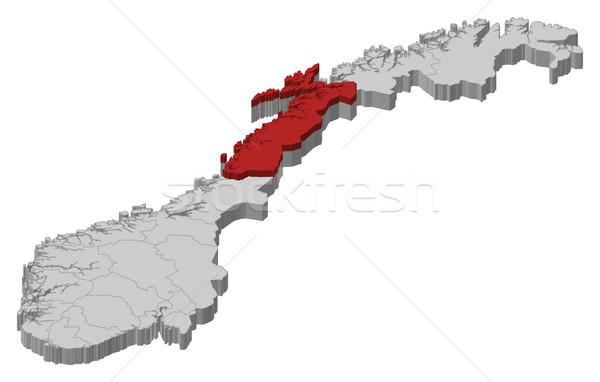 Map of Norway, Nordland highlighted Stock photo © Schwabenblitz