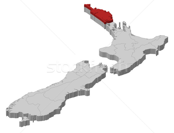 Map of New Zealand, Northland highlighted Stock photo © Schwabenblitz