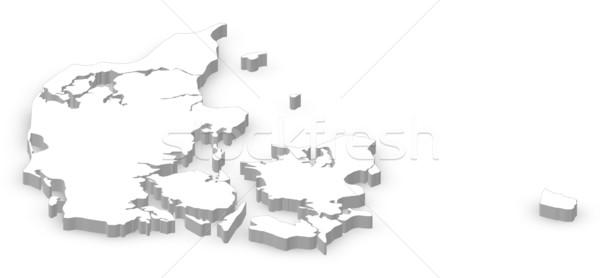 Térkép politikai néhány régiók absztrakt világ Stock fotó © Schwabenblitz