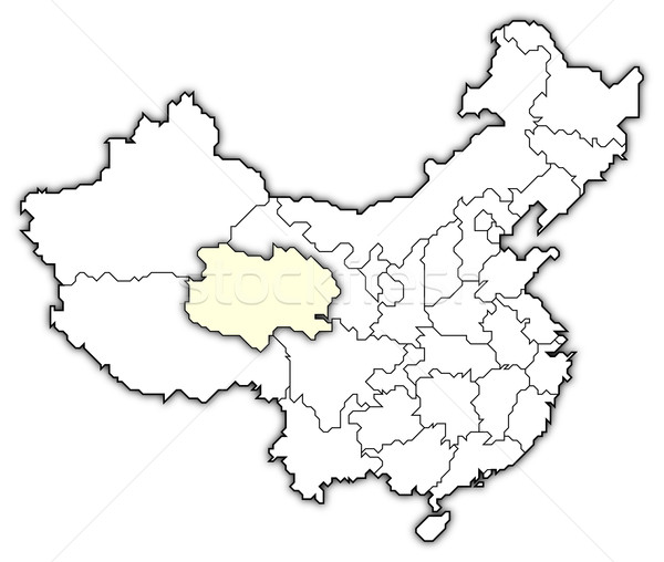 Map of China, Qinghai highlighted Stock photo © Schwabenblitz