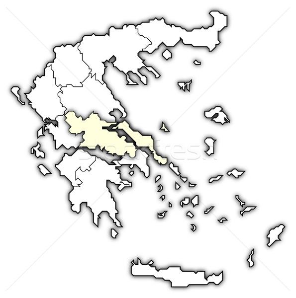 Térkép Görögország központi politikai néhány absztrakt Stock fotó © Schwabenblitz