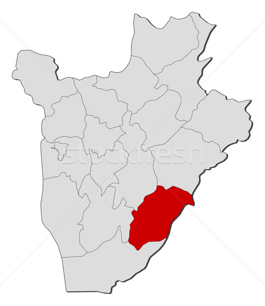 Map - Burundi, Rutana Stock photo © Schwabenblitz